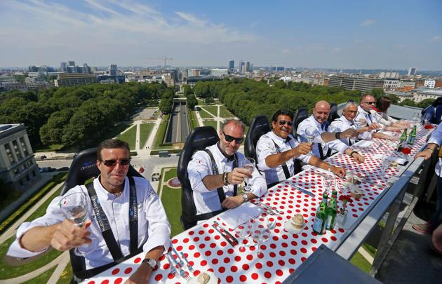 Restaurant in the Sky, Brussels, Belgium