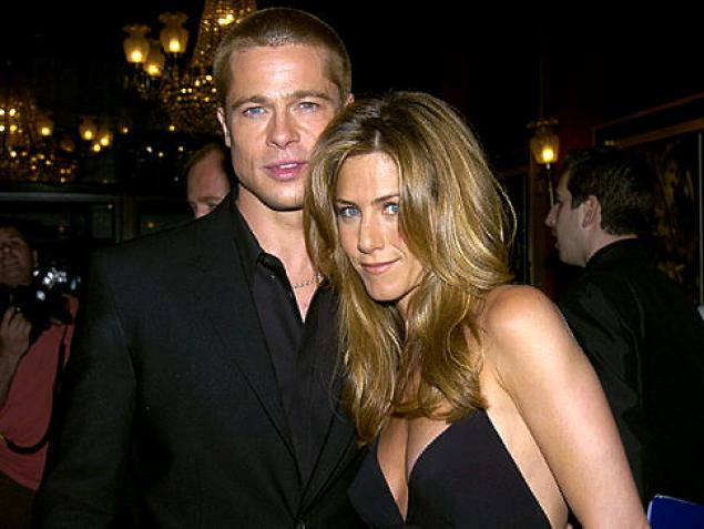 Jennifer Aniston adn Brad Pitt