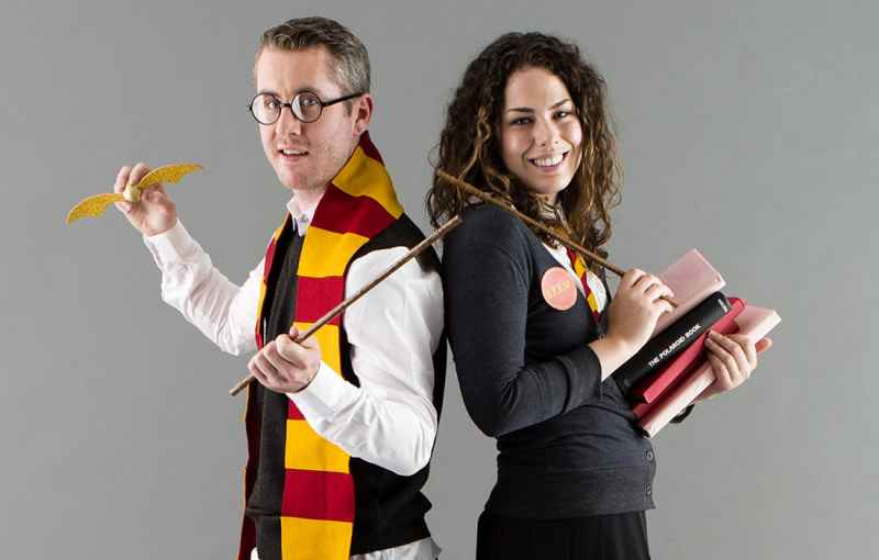 Halloween Harry Potter Hogwards Wizards Couples Costume