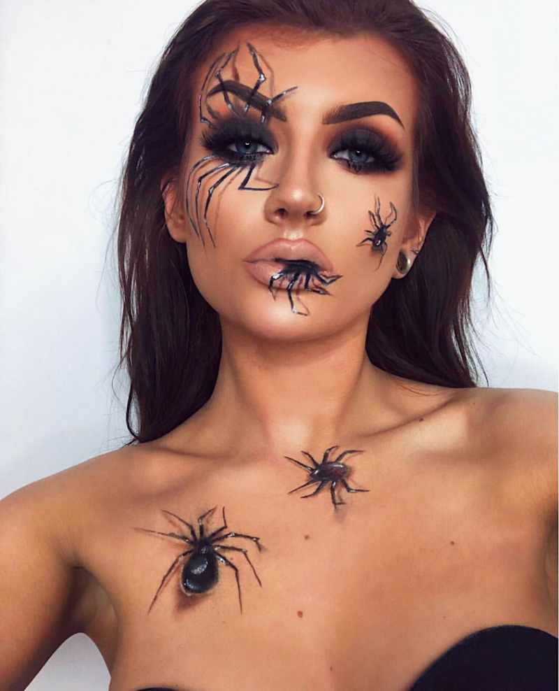 Spider Halloween Makeup Idea