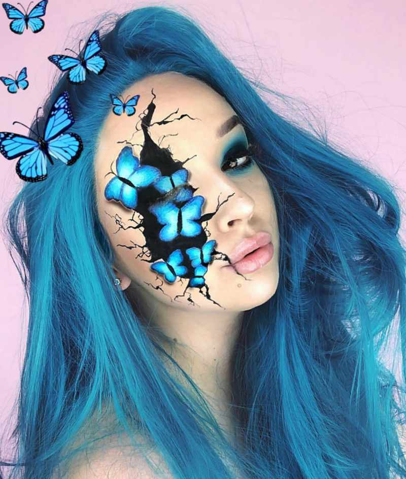 Butterfly Halloween Makeup Idea