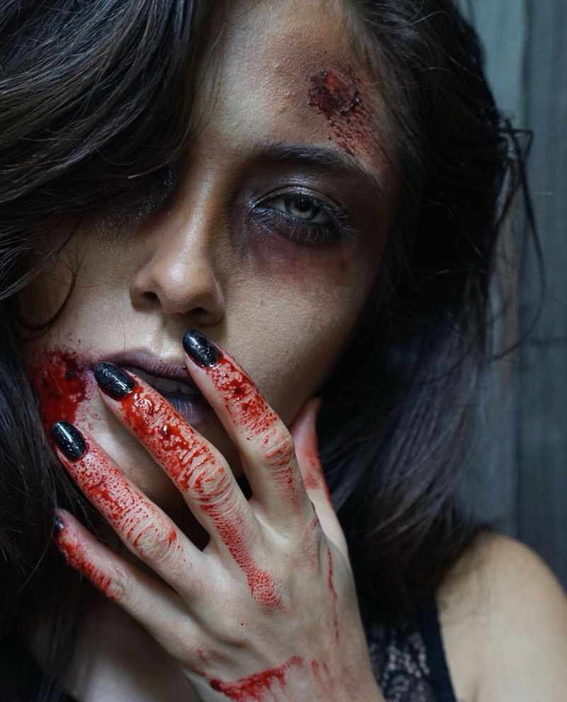 Zombie Halloween Makeup Idea