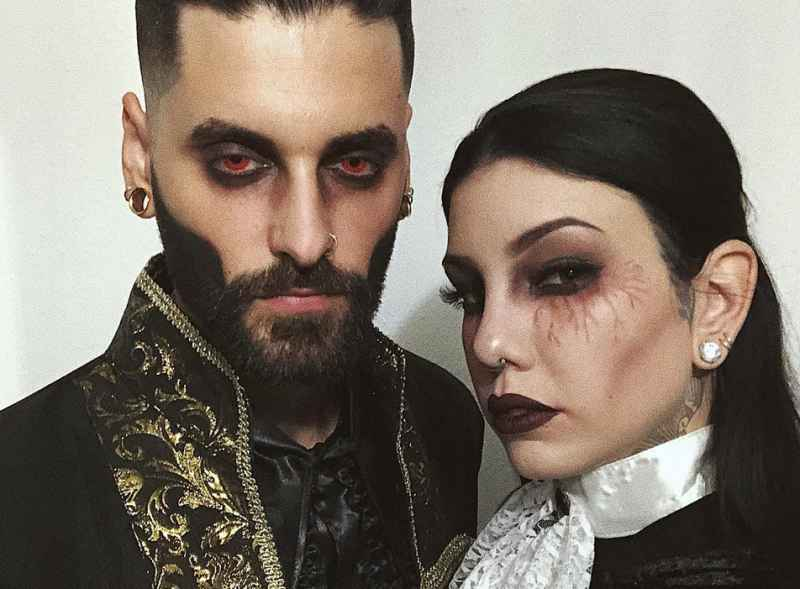 Vampire couple halloween costume