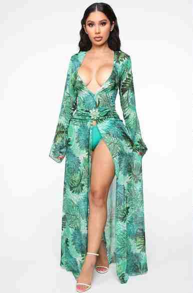 Fashion Nova Green Dress Versace