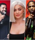 Kylie Jenner, Drake and Travis Scott Collage