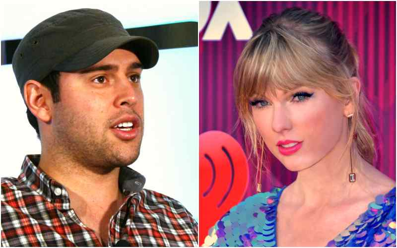 Scooter Braun & Taylor Swift Collage