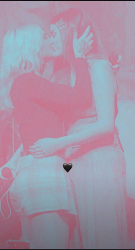 Selena Gomez and Julia Michaels kissing