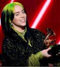 Billie Eilish at Grammys with an award