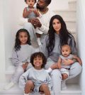 Kim Kardashian with kids